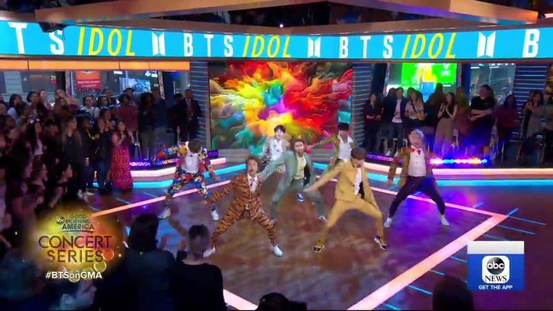 180926 BTS performs smash-hit Idol live on GMA