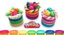 Пластилин Плей До Торт.Уроки лепки для детей. Еда для кукол