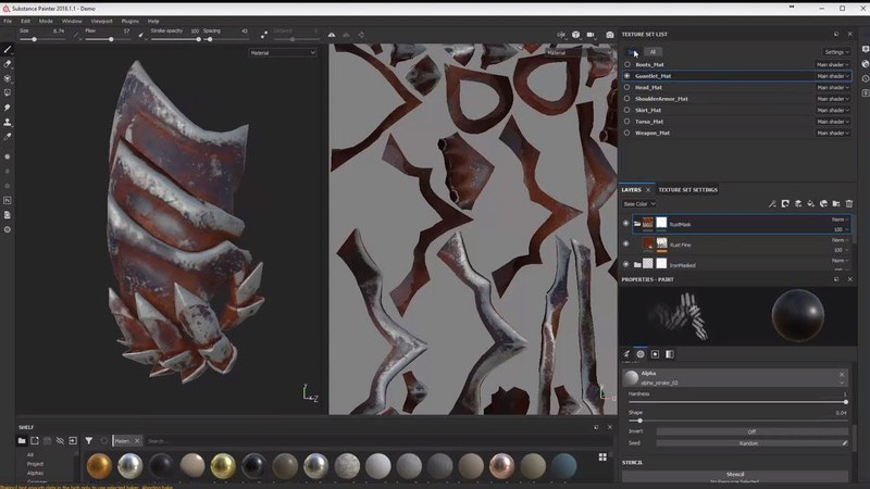 Substance Painter Layers, Masks, and Generators