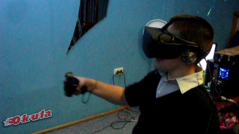 VR-аттракцион OKULA на Детском Дне рождения в кафе г. Бийска