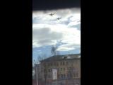 Тверь.Пара Ил-76МД.Тренировка к параду в Москве на 9 мая!