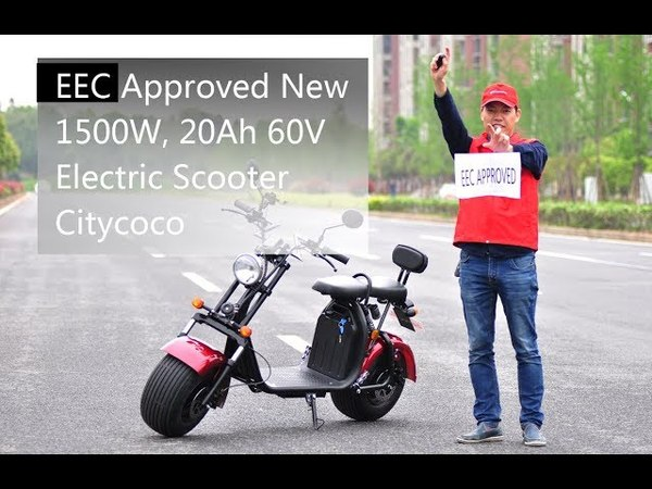 EEC Approved New 1500W, 20Ah 60V Electric Scooter Citycoco ES8004VIII EEC