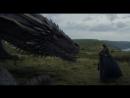 Джон Сноу гладит дракона. Игра Престолов 705