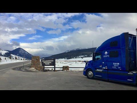 ДальнобойUSA/Рейс через Монтану/ Yellowstone Park...