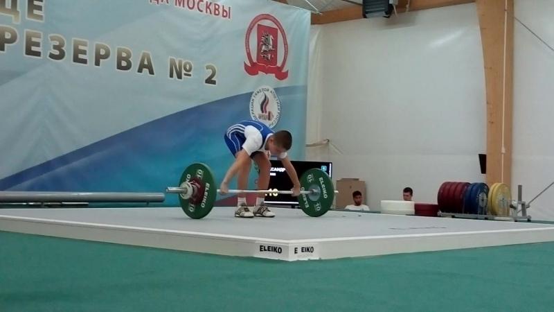 Максим Алекс андров-06 гр-рывок кл.-46 кг. Москва Олимпийские Надежды кат. 42 кг. (соб. вес 40.50)