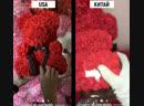 Мишка из 3D Роз Обзор USA Китай