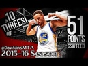 Stephen Curry Full Highlights 2016.02.25 at Magic - AMAZING 51 Pts, Sets NBA RECORD, GSW Feed!