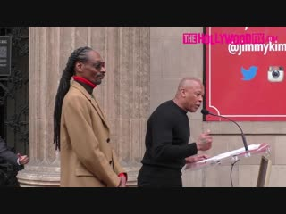 Dr. Dre Speaks At Snoop Doggs Hollywood Walk Of Fame Ceremony 11.19.18