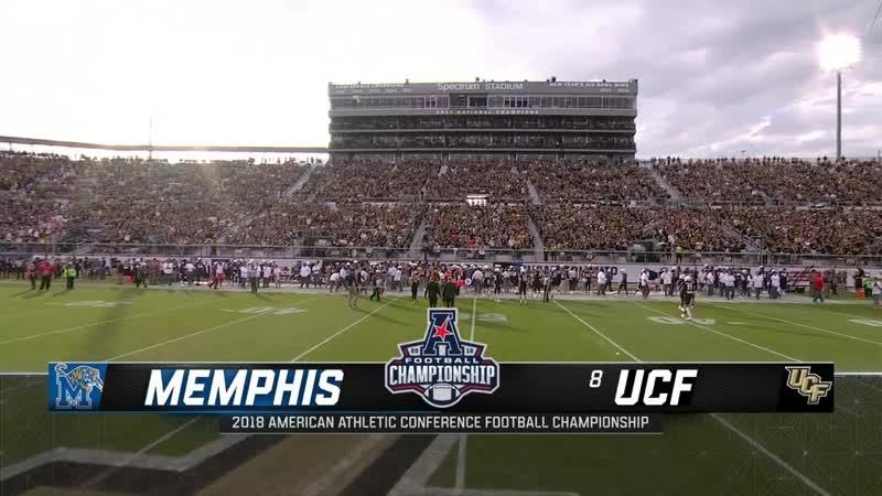NCAAF 2018 Week 14 AAC Championship Memphis Tigers 8 UCF Knights 1H EN