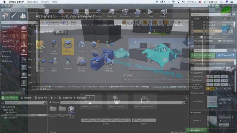 [Гоша Дударь] Уроки по Unreal Engine 4 2 - Создание проекта