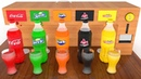 Coca Cola Soda Fountain Machine Learn Colors With Different Drinks Glasses for Kids