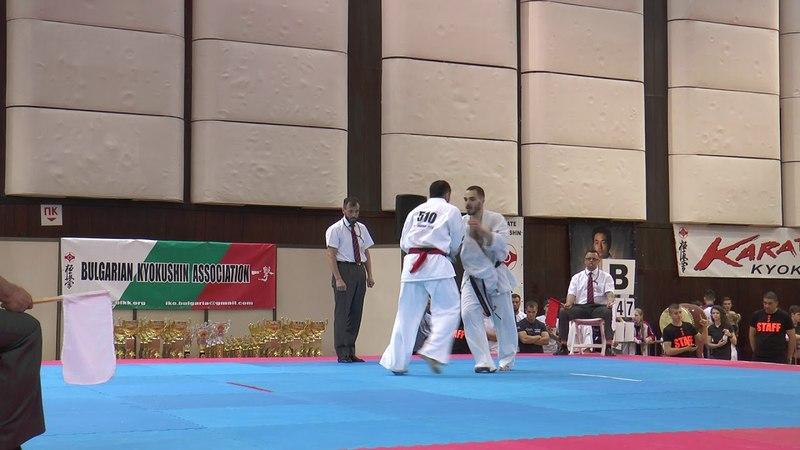 Kirill Psarev vs. Alum Yunusov. 32 European Weight Category Karate Championships