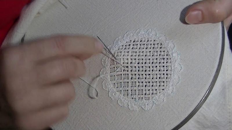Вышивка белым по белому. Часть 4. Мережка 2.