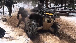 ATVs, hard ride - dirt and ice in Russia . Квадроциклы гряземес. ATVclubNorthWay