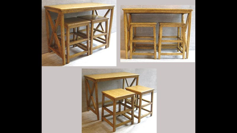 1/12th Scale Breakfast Bar and Stools Tutorial