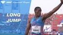Rushwal Samaai jumps 8 35 to win the Men's Long Jump IAAF Diamond League Rabat 2017