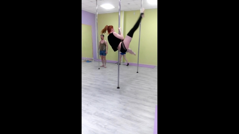 Екатерина Фокс. Пилон акробатик. Треня