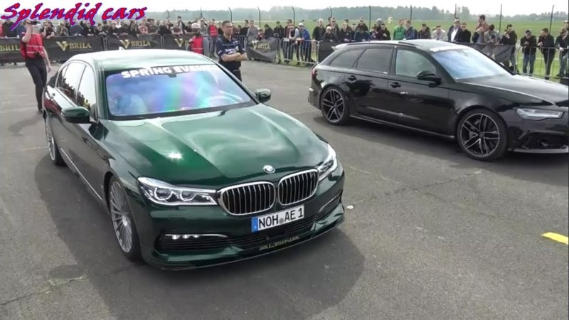 Alpina BMW B7 BiTurbo vs Audi RS6 Avant - Драг рейсинг.