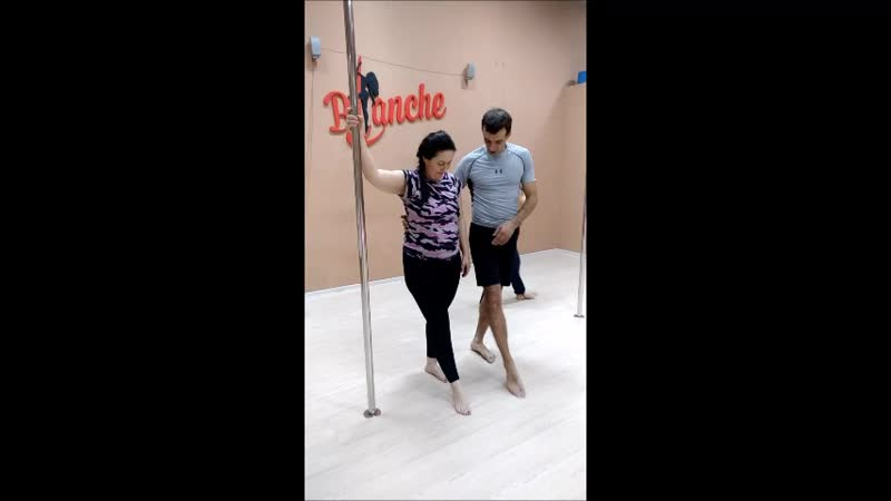 Упражнения на пилоне/ Pole Dance/ Cтудия Blanche