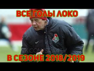 Все голы Локомотива в сезоне 2018/2019