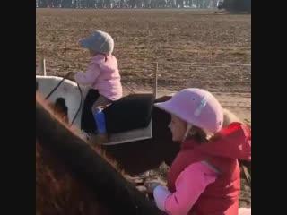 Маленькие конники♥
