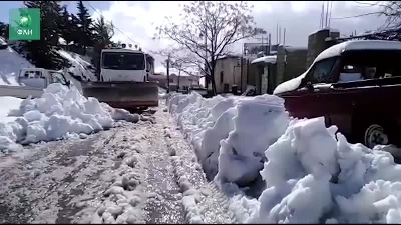 Сирия встречает зиму: ФАН публикует видео из заснеженной Эль-Кунейтры