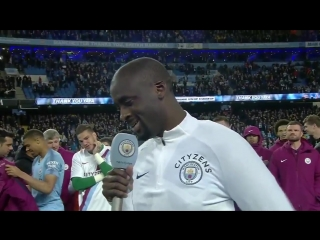 There was a surprise guest at Yaya Toures Man City farewell party