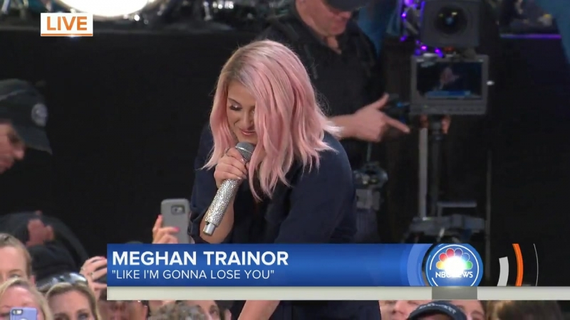 Meghan Trainor sings 'Like I'm Gonna Lose You' live TODAY телешоу «Today», Нью-Йорк, США.