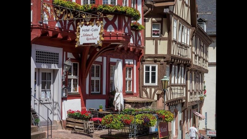 Городок в Германии для туристов Miltenberg