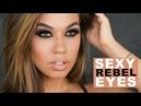 Sexy Rebel Eyes Makeup   Black Brown Smokey Eye Makeup Tutorial   Eman