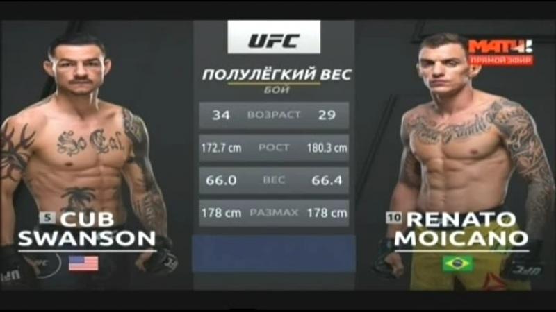 Cub Swanson vs Renato Moicano