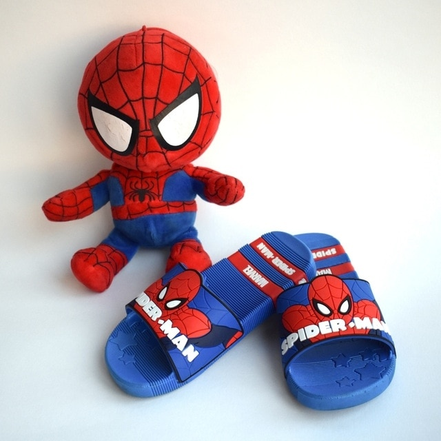 Резиновые сланцы SpiderMan