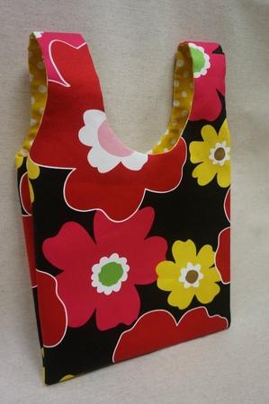 清秀佳人布坊 手作教學 有裡布背心購物袋的作法