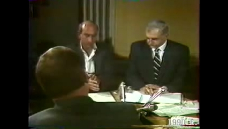 Звиад Гамсахурдиа и офицеры Советской Армии 1990 / 4