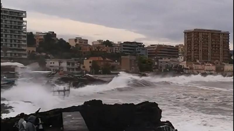 Medicane (Cyclone) in Sicily, Italy - September 28, 2018