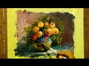 5 Gouache Painting Vase With Roses By Yasser Fayad