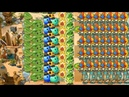 Bowling Bulb, Wasabi Whip and Melon Pult vs 999 Zombies - Pvz 2