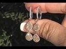 Fancy Pink, Fancy Yellow F-G Color Diamond Dangle Earrings 14k Gold GIA Certified 1.82 TCW - C1096