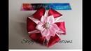 🌼 Kanzashi flower 8 🌼 D.I.Y HandMade Tutorial Fiore in raso 🍀