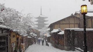 大雪の京都 2015年 Kyoto in heavy snow   (音声編集ヴァージョン  voice modified version)