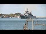 Фрегат Адмирал Макаров впервые прибыл в Севастополь к месту постоянного базирования