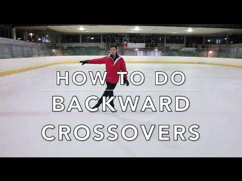 HOW TO DO BACKWARD CROSSOVERS | FIGURE SKATING ❄️❄️