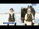 Бойцы спецназа проводят зимние учения на полигоне в Шилове