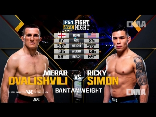 Fight Night Atlantic City: Merab Dvalishvili vs Ricky Simon