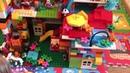 Собираем с Лизой конструктор Лего Дупло Lego Duplo - построили большой дом