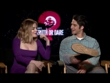 Our @MATTHEWHOFFMAN1 got nothing but the truth from TruthOrDareMovie stars @lucyhale and @tylergposey. See @truthdaremovie at Re
