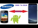 Samsung Phone History 2009 To 2018 All samsung phones