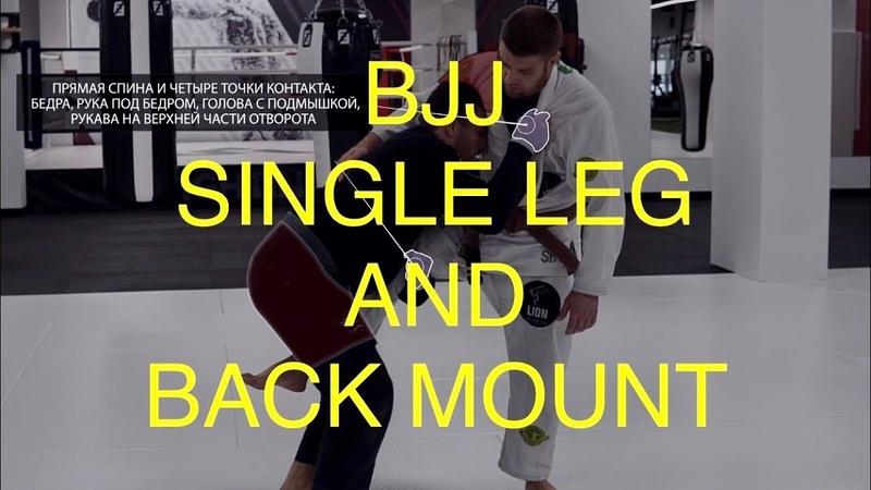 Bjj single leg and back mount