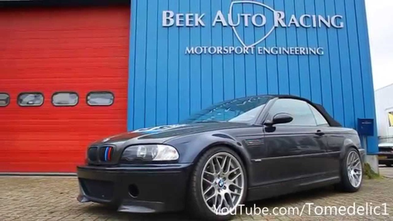 BMW M3 E46 w CarbonAirbox Dyno Run - Full Supersprint Exhaust