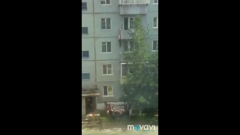 Житель Шимановска упал с балкона пытаясь спасти котёнка